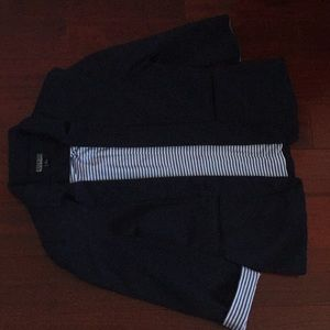 NWOT Nicole Miller 3/4 Sleeve Navy Blazer